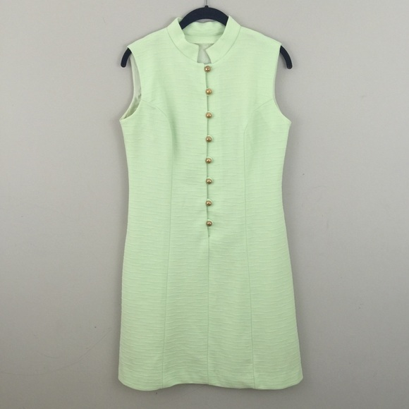 ffbfa8193b5 Vintage Dresses | Green Dress With Gold Buttons Sears | Poshmark